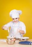 Little boy chef in uniform Stock Image