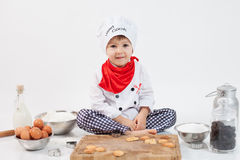 Little boy with chefs hat Royalty Free Stock Photography