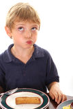 Little Boy Chewing With Mouth Full Stock Photography