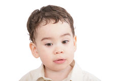 Little boy, child looking down Royalty Free Stock Photo