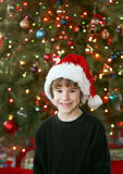 Little Boy at Christmas Royalty Free Stock Image