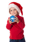 Little boy with christmas decoration Royalty Free Stock Photography