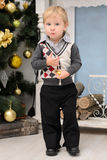 Little boy in christmas interior Royalty Free Stock Photo