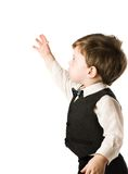 Little boy in classic suit Stock Images