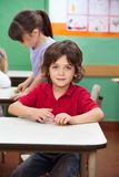 Little Boy With Clay At Kindergarten Stock Photos