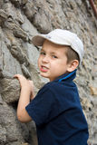 Little boy climber Stock Image