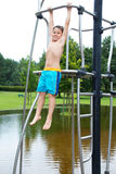 Little boy is climbing Royalty Free Stock Photography