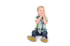 Little boy with closed mouth Royalty Free Stock Images