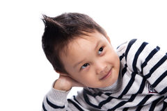Little boy clouse up Stock Image