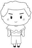 Little boy coloring page Royalty Free Stock Photos