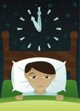 Little Boy conseguido insomnio ilustración del vector