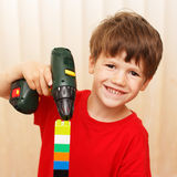 Little boy construct Stock Photos