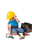 Little Boy Construction Worker Stock Photos
