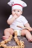 Little boy cook Stock Photos