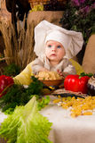 Little boy in the cook costume Royalty Free Stock Photography
