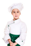 Little boy cookee in uniform Royalty Free Stock Photos