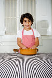 Little boy cooking Royalty Free Stock Image