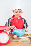 Little boy cooking cake home made bakery Royalty Free Stock Images