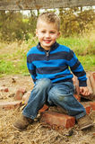 Little boy country portrait Royalty Free Stock Images