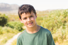 Little boy in the countryside Royalty Free Stock Images