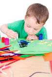 Little boy Crafts Stock Photography