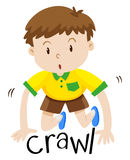 Little boy crawling on the floor Royalty Free Stock Images