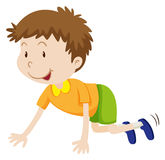 Little boy crawling on the floor. Illustration Royalty Free Stock Photography