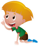Little boy crawling on the floor. Illustration Royalty Free Stock Images