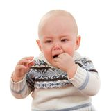 The little boy cries Stock Photos