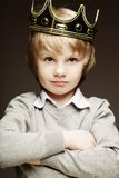 Little boy with crown Royalty Free Stock Image