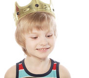 Little boy with crown Stock Photo