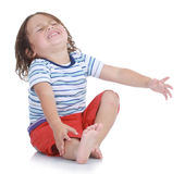 Little boy crying Royalty Free Stock Images