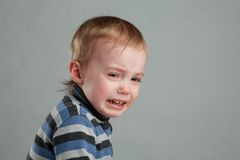 Little boy crying Stock Photo