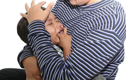 Little boy crying Royalty Free Stock Image