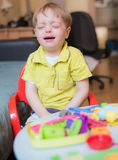 Little boy crying at home Royalty Free Stock Photography