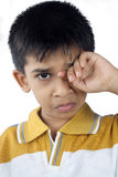 Little Boy Crying. Indian Little Boy Crying with Expression Stock Photos