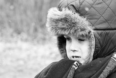 little boy crying out loud Stock Photography