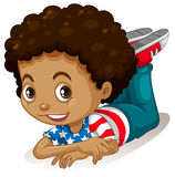 Little boy with curly hair Royalty Free Stock Images