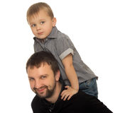 Little boy with dad Stock Photography