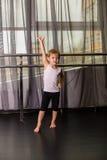 Little boy dancer. In a dance studio stock images