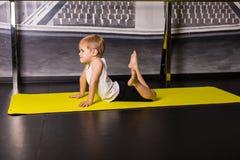 Little boy dancer. In a dance studio royalty free stock image