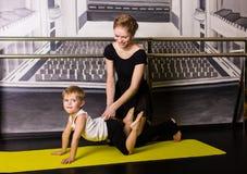 Little boy dancer. In a dance studio stock photos