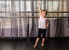 Little boy dancer. In a dance studio royalty free stock photo