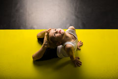 Little boy dancer. In a dance studio royalty free stock images