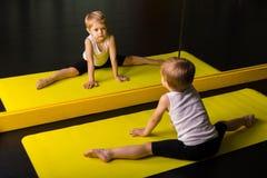 Little boy dancer. In a dance studio royalty free stock photos
