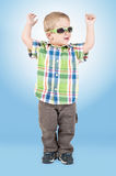 Little boy dancing Royalty Free Stock Image