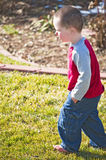 Little boy deep in thought Royalty Free Stock Photos
