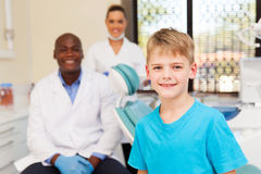 Little boy dentist office Royalty Free Stock Image