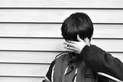 Little Boy desesperado imagem de stock royalty free