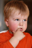 Little boy dirty Royalty Free Stock Image